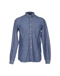 Diesel Black Gold Denim Denim Shirts Men Blue