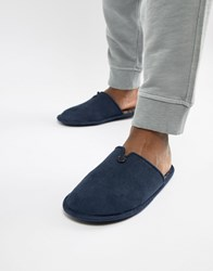 Dunlop Check Slip On Slipper Navy