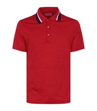 Burberry Knitted Collar Polo Shirt Male Red