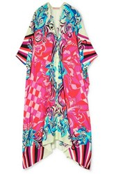 Emilio Pucci Printed Voile Kaftan Bright Pink