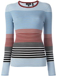 Theory Striped Jumper Ocean