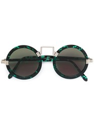 Jean Paul Gaultier Vintage Circle Shaped Sunglasses Green