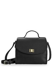 Gigi New York Amelie Leather Crossbody Bag Black