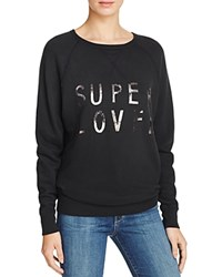 Current Elliott The Oversized Sweatshirt Washed Black Super Loved