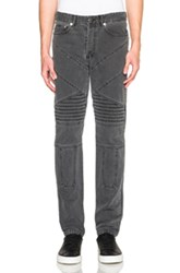 Givenchy Cuban Fit Biker Jeans In Gray