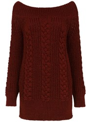 Tufi Duek Knit Blouse Red