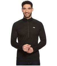 Outdoor Research Echotm L S Zip Tee Black Charcoal Long Sleeve Pullover