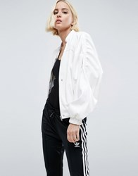 Asos 80S Statement Leather Look Jacket White
