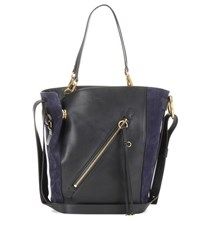 Chloe Myer Medium Leather And Suede Tote Black