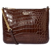 Modalu Twiggy Leather Across Body Bag Oyster Croc
