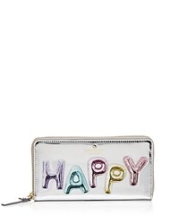Kate Spade New York Whimsies Happy Lacey Patent Leather Wallet Silver Multi