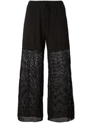 Lost And Found Rooms Mesh Panel Palazzo Pants Black