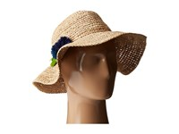 Hat Attack Chunky Crochet Continental W Pom Tassel Natural Blues Caps Neutral