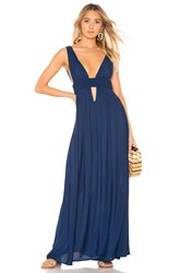 Indah Anjeli Maxi Dress Blue
