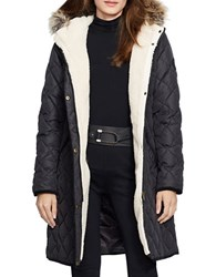 Lauren Ralph Lauren Faux Fur Trimmed And Sherpa Lined Parka Black
