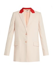 Givenchy Peak Lapel Single Breasted Jacket Pink