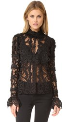 Anna Sui Magical Mystery Lace Top Black