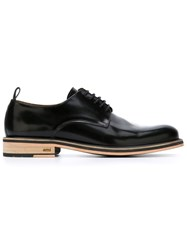 Ami Alexandre Mattiussi Stacked Heel Derby Shoes Black