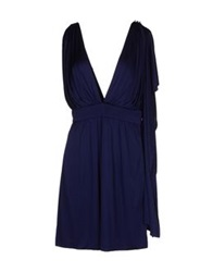 Azzaro Short Dresses Blue