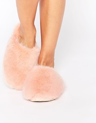 Ted Baker Breae Pink Faux Fur Slippers