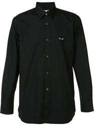 Comme Des Garcons Heart Patch Shirt Black