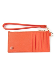 Tory Burch Logo Wristlet Cardholder Yellow And Orange