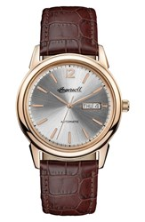 Ingersoll New Haven Automatic Leather Strap Watch 40Mm