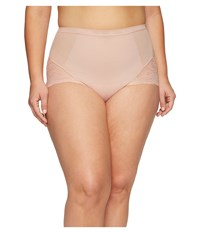 Spanx Plus Size Spotlight On Lace Brief Vintage Rose Women's Underwear Pink