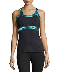 C And C Sport Padded T Back Tank Caviar Blue