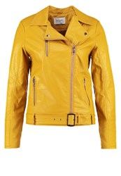 Sparkz Jacky Faux Leather Jacket Dark Yellow