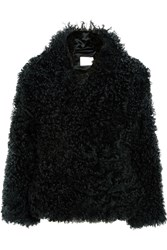 Dion Lee Shearling Coat Forest Green