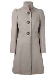 Vivienne Westwood Anglomania Single Breasted Coat Nude And Neutrals