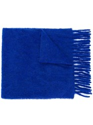 Forte Forte Knitted Scarf Blue