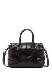 Christopher Kon Leather Crossbody Satchel Black