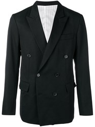 Ex Infinitas Bitterness Double Breasted Blazer Black