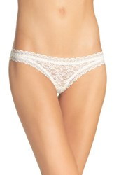 Free People Women's Lace Thong Ivory