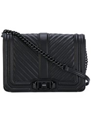 Rebecca Minkoff Quilted Love Shoulder Bag Women Calf Leather One Size Black