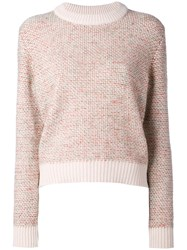 Chloe Knitted Sweater Women Wool Mohair Acrylic Cashmere M Pink Purple