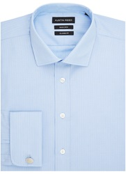 Austin Reed Stripe Classic Fit Long Sleeve Cutaway Collar For Blue