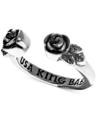King Baby Studio Rose Cuff Ring In Sterling Silver
