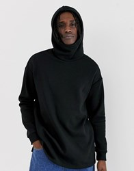 Your Turn Yourturn Hoodie With High Neck In Black