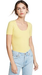 Joostricot Scoop Neck Solid Peachskin Tee Lime Light