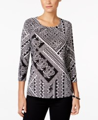Jm Collection Printed Jacquard Top Only At Macy's Bedford Tapstry