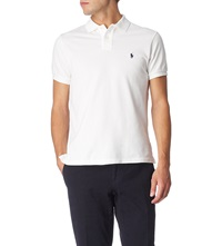 Ralph Lauren Customfit Mesh Polo Shirt White