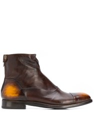 Alberto Fasciani Tinted Ankle Boots Brown