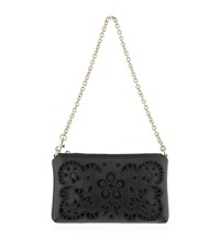 Dolce And Gabbana Embroidered Florals Micro Bag Female Black