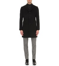Reiss Luciano Wool Coat Black