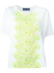 Emanuel Ungaro Flower Embroidery Top White