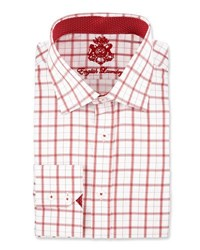 English Laundry Plaid Long Sleeve Dress Shirt Red