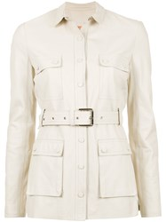 Spacenk Nk Leather Trench Coat Nude And Neutrals